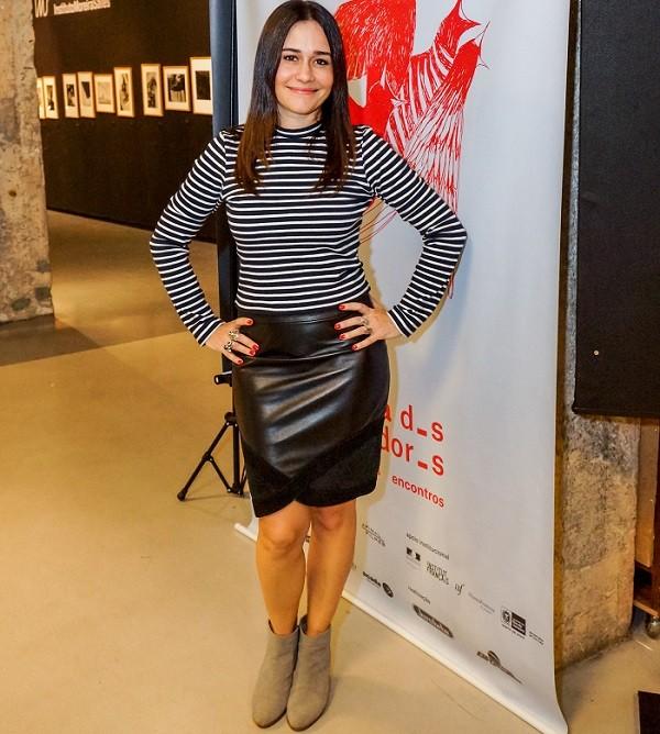 Alessandra Negrini na exibição do filme Beduíno, na Semana dos Realizadores, no Rio  (Foto: André Maceira)