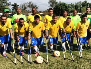 Seleção brasileira futebol amputados Mundial (Foto: Rogério Almeida)