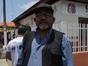 Presidente da Associação dos Moradores do Brasil Novo, Tony Macapá (Foto: Abinoan Santiago/G1)
