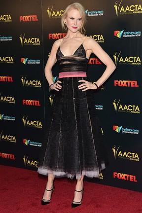 Nicole Kidman em premiação em Los Angeles, nos Estados Unidos (Foto: Alberto E. Rodriguez/ Getty Images/ AFP)