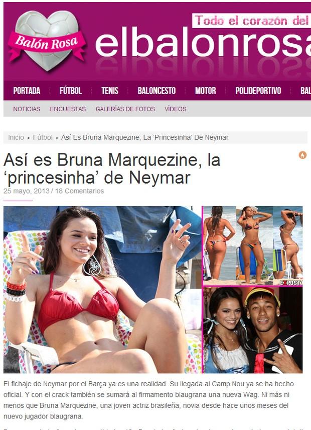 Bruna Marquezine (Foto: Reprodução / elbalonrosa.com)