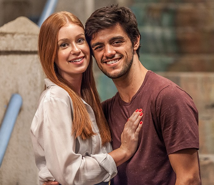#Joliza: fãs falam o que acham dos personagens de Marina Ruy Barbosa e Felipe Simas (Foto: Artur Meninea / TV Globo)