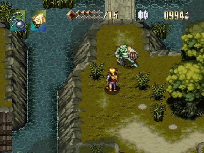Alundra é um game de ação-RPG similar à série Zelda. (Foto: Reprodução)