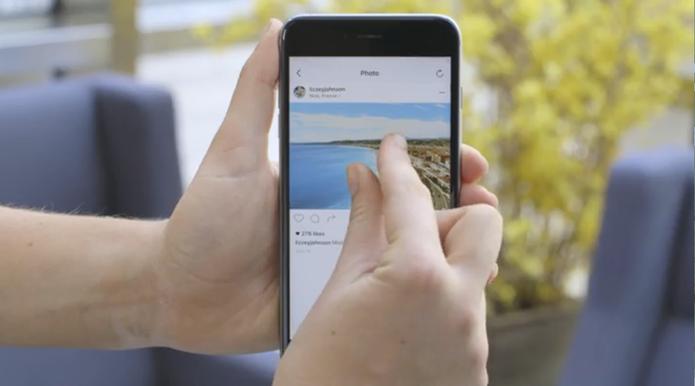 Instagram inclui zoom em fotos e vídeos do aplicativo para iOS e Android (Foto: Divulgação/Instagram)