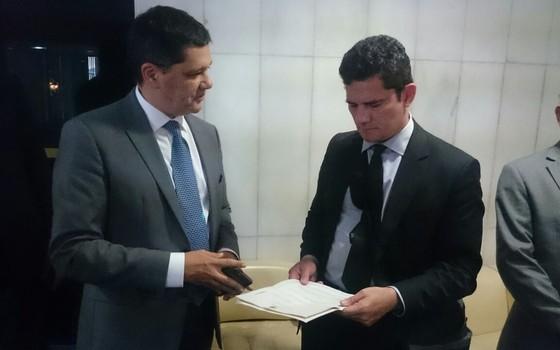 O senador Ricardo Ferraço (PSDB) e Sergio Moro (Foto: Reprodução)