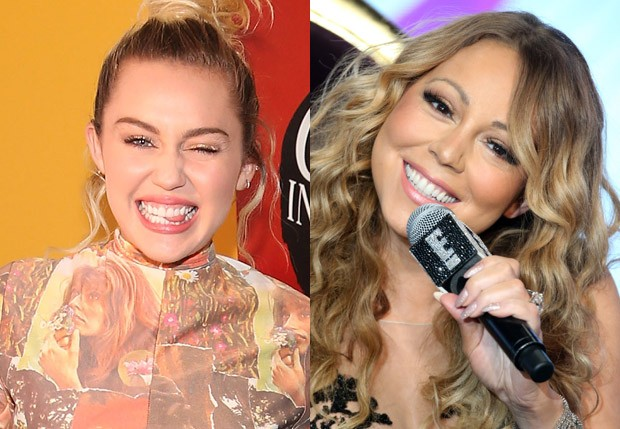 Miley Cyrus e Mariah Carey (Foto: Getty Images)