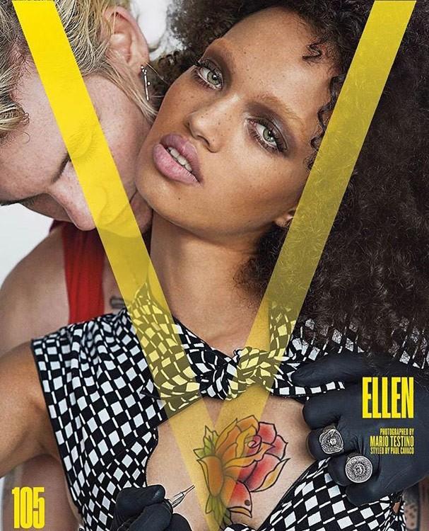 Ellen Rosa estampa edição de janeiro da V magazine, clicada por Mario Testino (Foto: Divulgação)
