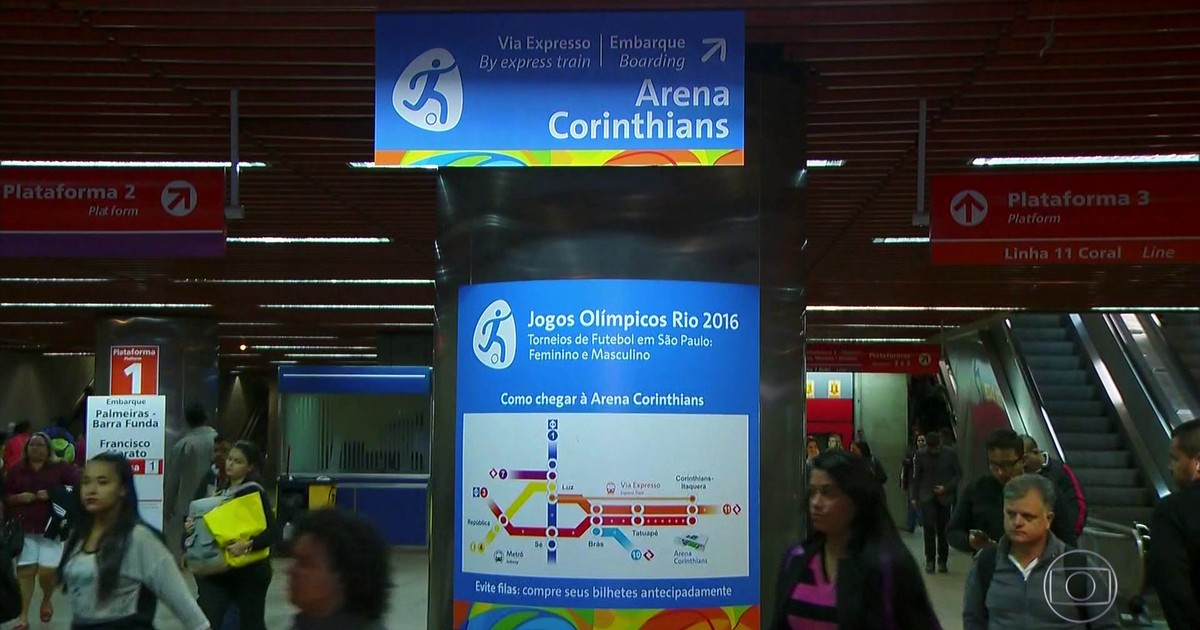G1 - Saiba como ir à Arena Corinthians para ver jogos de futebol da  Olimpíada - notícias em São Paulo 5f0f008b4ef80