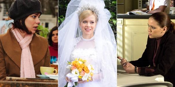 Leandra Leal em Páginas da Vida (2006), em Ciranda de Pedra (2008) e em Senhora do Destino (2004) (Foto: Globo)