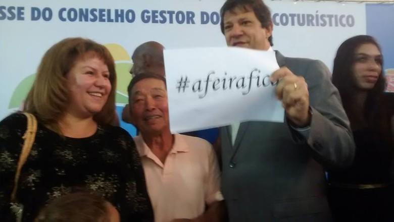 Fernando Haddad durante encontro com o Conselho Gestor do Polo Ecoturístico de Parelheiros (Foto: Lia Goes)