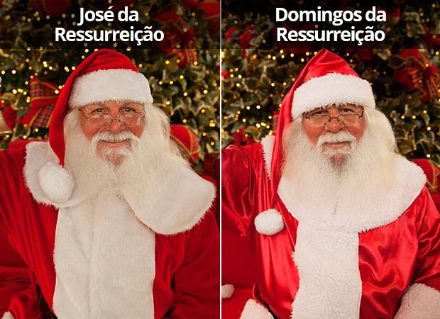 Papais Noéis gêmeos (Foto: Glauco Araújo/G1)