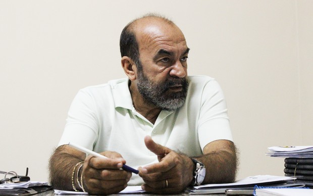 Cesarino Oliveira, presidente da Federação de Futebol do Piauí (Foto: Flávio Meireles/GLOBOESPORTE.COM)