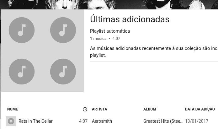 Visualizando a nova música na Google Play Music (Foto: Reprodução/Edivaldo Brito)