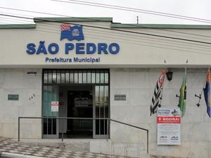 Fachada da Prefeitura de São Pedro (Foto: Daniella Oliveira/Prefeitura de São Pedro)