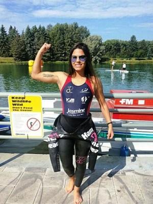 Taynara Bonetti triathlon (Foto: Arquivo Pessoal)