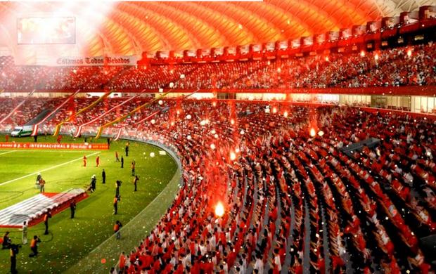 Resultado de imagem para Internacional torcida na Arena Beira Rio