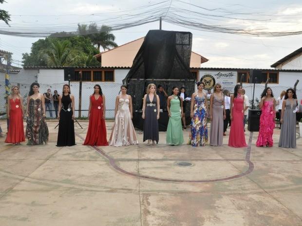Candidatas Miss Primavera em presídio de Campo Grande MS (Foto: Fernando da Mata/G1 MS)
