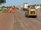 Obras interditam parcialmente trecho da BR-163 em Campo Grande