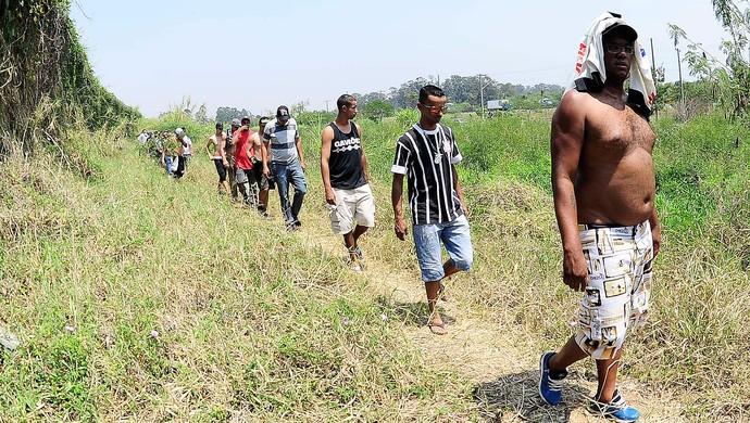 protesto torcida Corinthians (Foto: Marcos Ribolli)