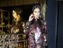 Adriana Lima usa fenda arrasadora em festa nos Estados Unidos