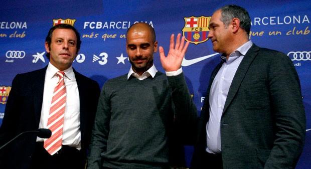 zubizarreta sandro rosell guardiola barcelona coletiva (Foto: Agência Reuters)