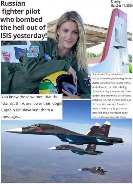 Capitã Balislava, heroína na luta contra o Estado Islâmico
