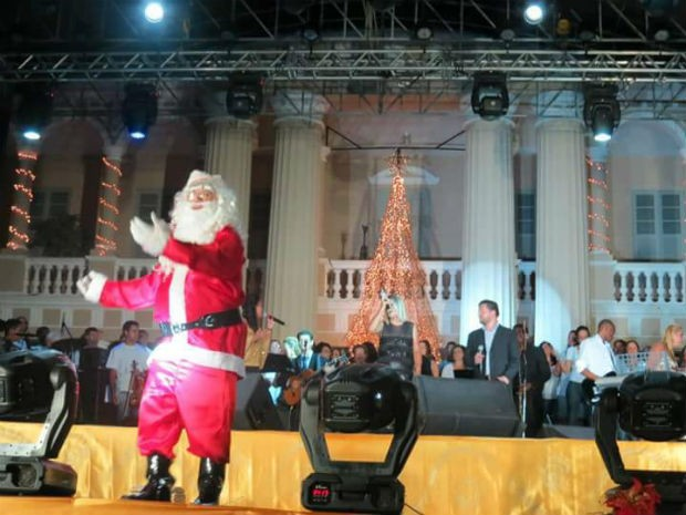 Papai Noel em Leopoldina (Foto: Conservatório de Leopoldina)