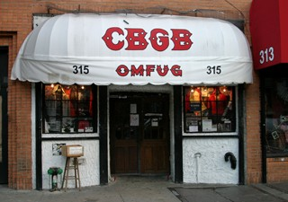 Fachada do clube CBGB, em Nova York (Foto: Teresa Lee/AFP)