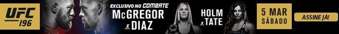 Banner do UFC 196 (Foto: divulgação)