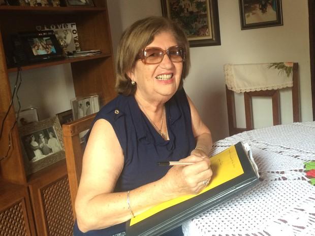 Professora Teresa Cristina, moradora de Goianápolis, Goiás (Foto: Paula Resende/ G1)