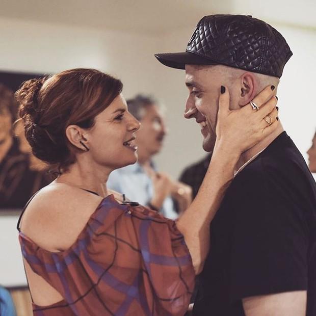 Debora Bloch e Paulo Gustavo em teatro no Rio (Foto: Instagram/ Reprodução)
