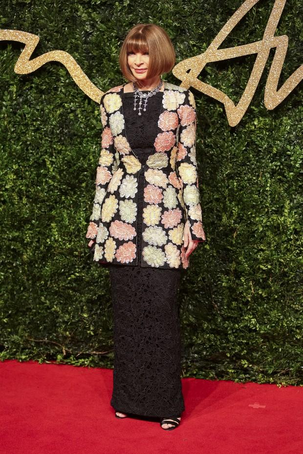 Anna Wintour no British Fashion Awards (Foto: AFP)