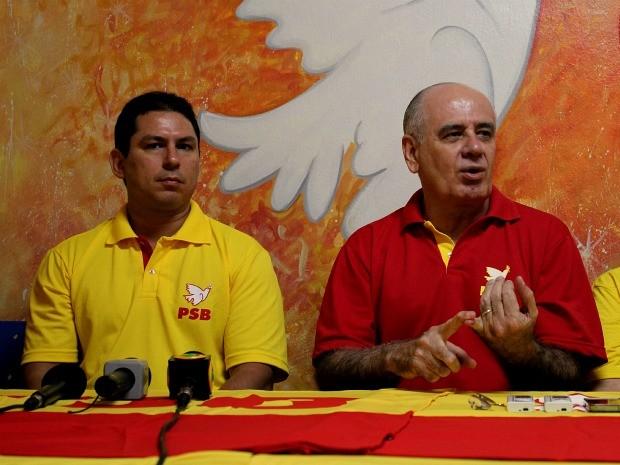 Serafim e Ramos são os candidatos a prefeito e vice-prefeito da aliança entre PSB e Psol (Foto: Mônica Dias/G1)