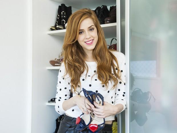 Atualmente, ela revela que está com o estilo mais romântico por conta de sua personagem (Foto: Marcelo Correa)