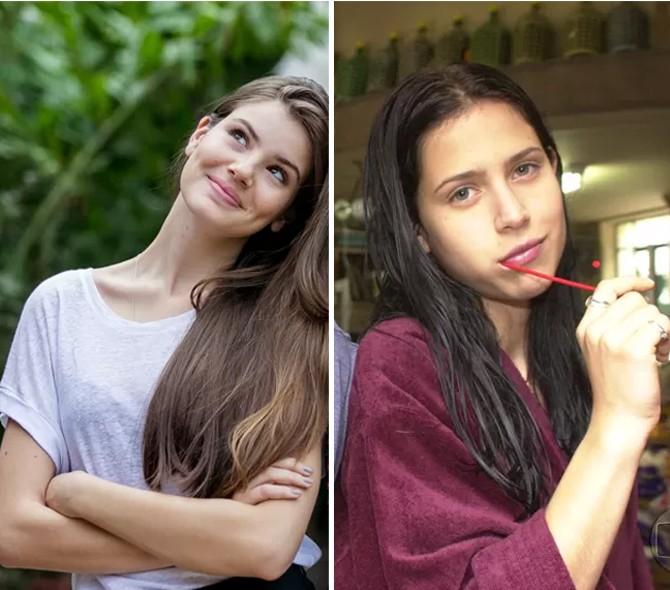Camila Queiroz e Mel Lisboa foram reveladas em papéis que deram o que falar (Foto: Isabella Pinheiro/Gshow e Arquivo Cedoc)