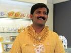 Indiano tenta entrar para o Guinness com camisa de ouro de 3,32 kg