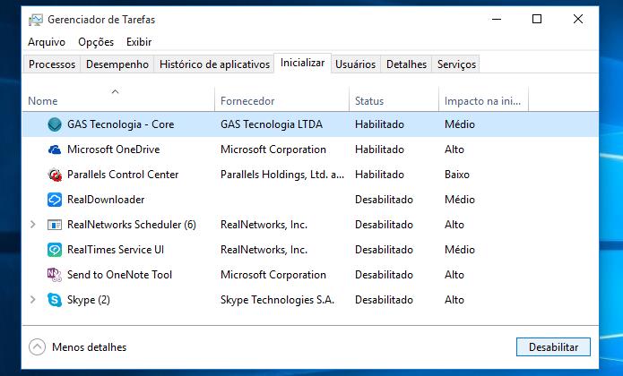 Desativando os programas que abre com o Windows (Foto: Reprodução/Helito Bijora)