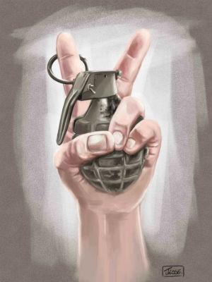 Cartoon de Jesse selecionado na primeira fase do festival do Irã (Foto: Jessé Ribeiro / Arquivo pessoal)