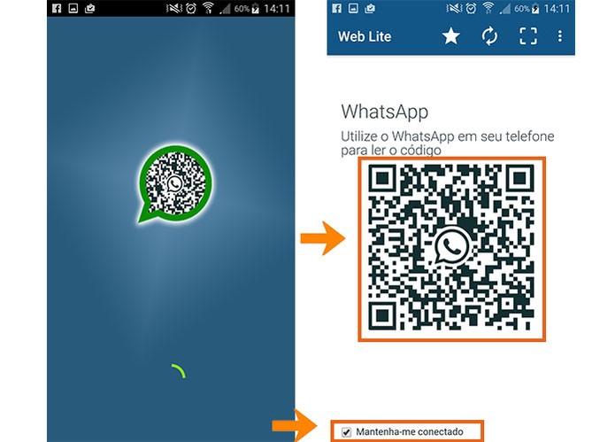 Acesse o Web Lite no celular secundário (Foto: Reprodução/Barbara Mannara)