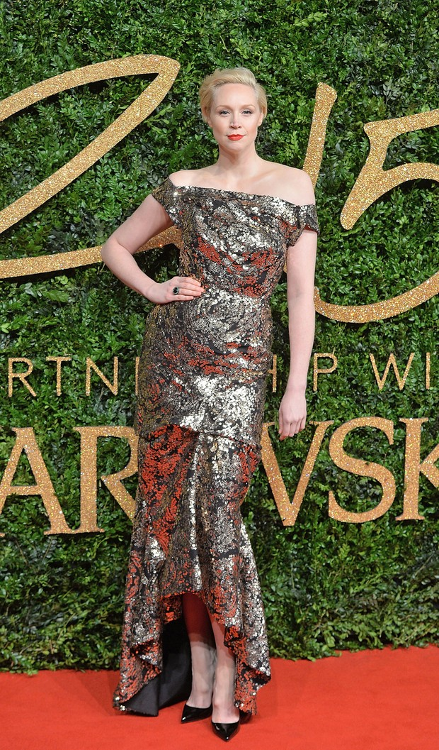 Gwendoline Christie no British Fashion Awards (Foto: Getty Images)