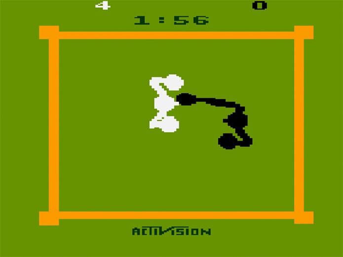 Boxe no Atari era simples e divertido (Foto: Reprodução/Atari Archives)