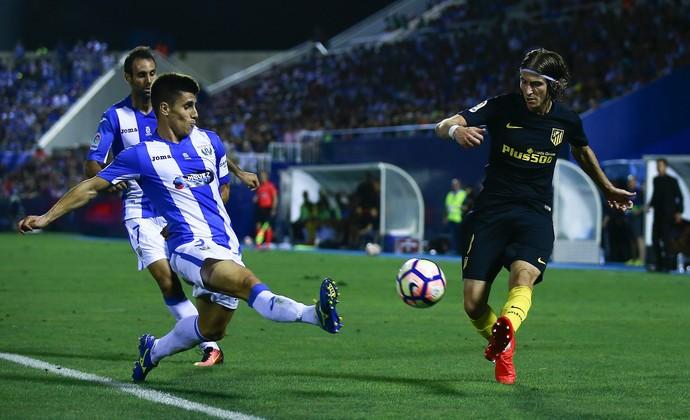 Bustinza e Filipe Luís Leganés x Atlético de Madrid (Foto: Getty Images)