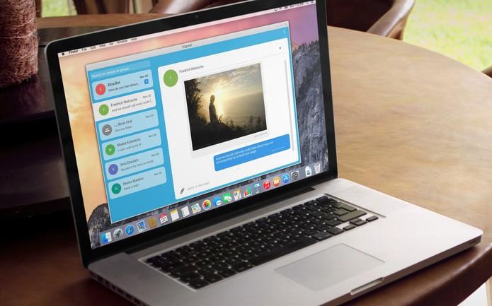 Signal chega no PC em versão beta; tela do computador mostra o rival do Whatsapp (Foto: Divulgação/Signal)