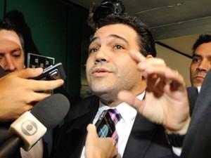 O deputado Marco Feliciano (PSC-SP), após reunião com líderes nesta terça (9) (Foto: Antonio Cruz/ABr)