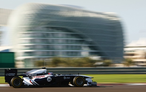 Valtteri Bottas nos testes de novatos em Abu Dhabi, 2011 (Foto: Getty Images)