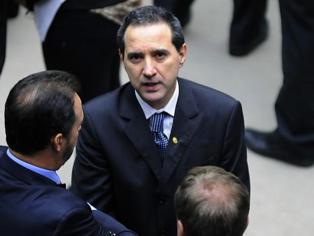O deputado Natan Donadon (em partido-RO) em sessão que decidiu cassação de seu mandato na Câmara (Foto: Lúcio Bernardo Jr/Ag.Câmara)