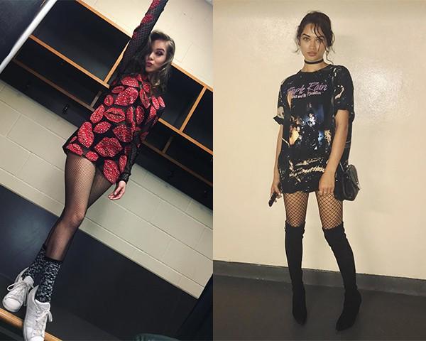 Nos looks de Hailee Steinfeld e da modelo Shanina Shaik (Foto: Reprodução/Instagram)