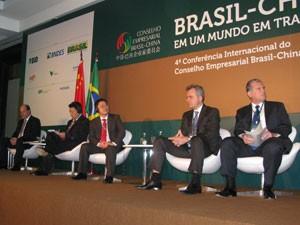 Empresários brasileiros e chineses participam de conferência nesta quarta-feira (21) em São Paulo (Foto: Gabriela Gasparin/G1)