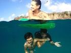 Juliana Knust relembra viagem a Noronha com foto incrível da família