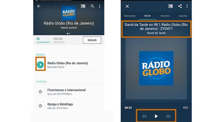 Inicie a transmissão da rádio e o resultado será exibido também na TV (Foto: Reprodução/Barbara Mannara)